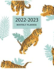 2022-2023 Monthly Planner: January 2022 to December 2023 -2 Year Monthly Organizer and Planner cheetah leopard