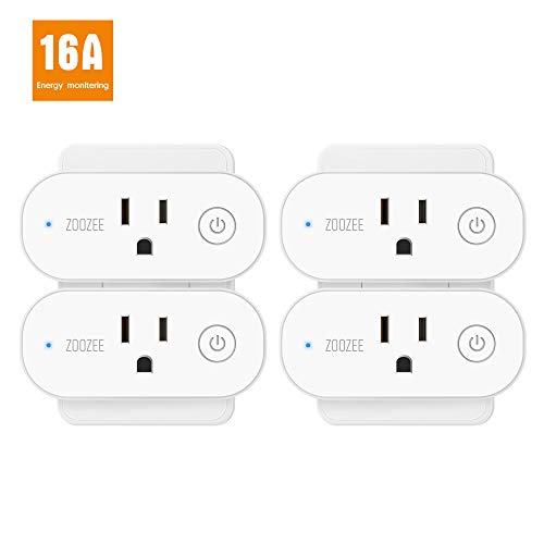 Smart Plug Wifi Outlet ZOOZEE Compatible With Alexa, Echo, Google Home and IFTTT, No Hub Required, Remote Control, with Timer Function (Best Energy Monitoring Devices)