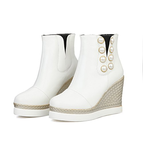 Rain White Heel Boots 1TO9 Platform Urethane Novelty Womens Flatform High 7w0qxHzw1