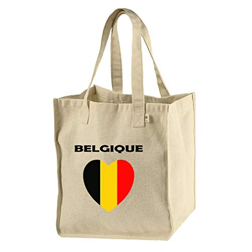 Price comparison product image Heart Love Belgique Belgium Hemp / Cotton Canvas Market Bag Tote