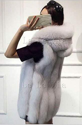 Outerwear De Sans Hiver Warm Patte Capuchon Dame Femme Unicolore Chic Casual Mode Fourrure A Gilet Boutonnage Branché Elégante Schwarz Automne Manches Capuche Veste À Synthétique 1IwdnTq