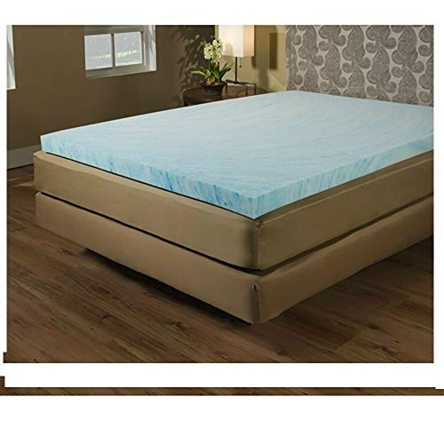 Colored Luxury Crate Mat - Twin Size 2-inch Blue Gel Memory Foam Mattress Topper - Made in USA Bowsers Dog Bed Pet Foam Mat Crate Luxury MyEasyShopping