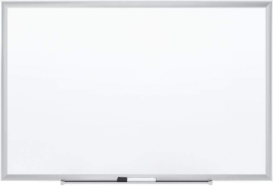 Staples 1781791 Standard Steel Whiteboard Aluminum Finish Frame 3-Ft W X 2-Ft H