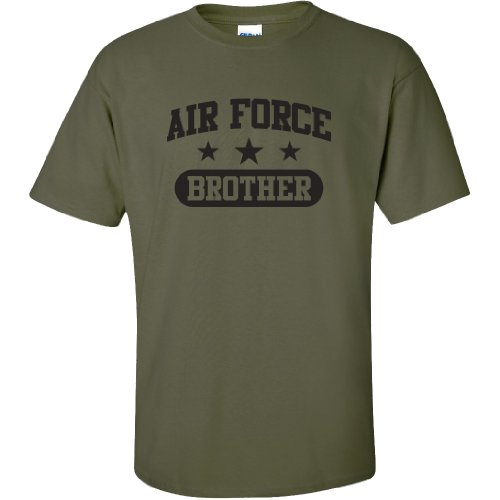 - Air Force Brother Short Sleeve T-Shirt in Military Green - X-Large