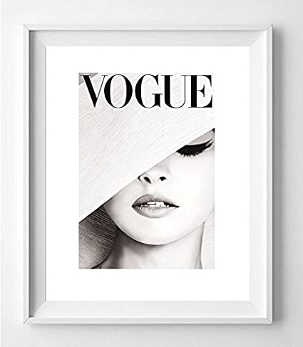 Poster vogue issues glamourous soft gray picture art print decoration 16 x