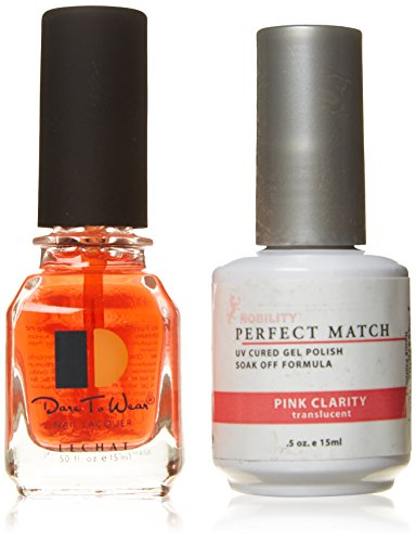 Perfect French Nail (Le Chat Perfect Match Led-Uv Gel Polish Kits - Complete A-Z Collection, Pink Clarity - French Translucent Pink)