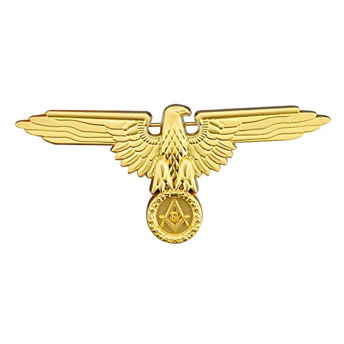 Masonic Mason Freemason Freemasonry Eagle Pin Gold