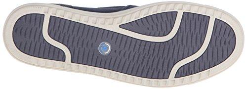Nunn Bush Mens Archie Twin Gore Plain-toe Mocassino Slip-on Blu Scuro