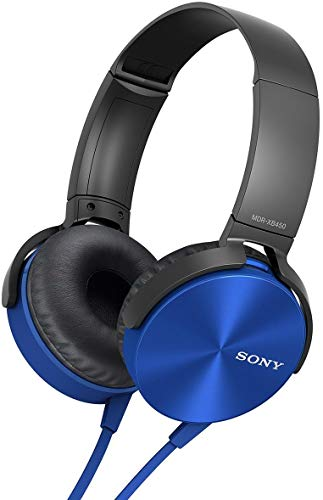 Renewed  Sony MDR XB450 On Ear Extra Bass Headphones  Blue