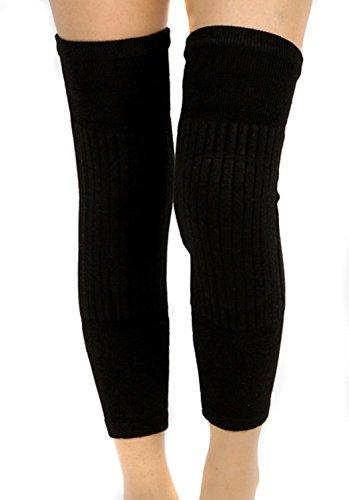 SEADEAR Winter Warm Thicken Wool Cashmere Knees Brace Support Pads Knee Warmers Sleeve Leg Warmers Protector for Women Men with Stylus - Warmers Mens Leg