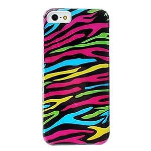 comprar Patrón de caja dura colorida cebra-raya desmontable para el iphone 5/5s