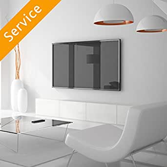 tv wall mounting service including wall mount for tv up to 50 amazon. Black Bedroom Furniture Sets. Home Design Ideas