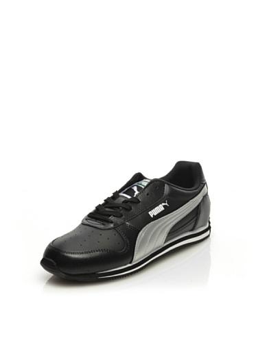 Puma Fieldsprint SL Zapatillas de deporte de cuero de la Mujer - Zapatos - Negro Black
