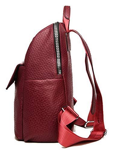 Sacs Femme Achats Vineux Vineux à AgooLar GMBCB181513 des bandoulière Rouge Zippers Rouge Sacs BXtBqwd