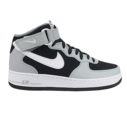 Nike Men's Air Force 1 Mid '07 Black/White/Wolf Grey/Cl Grey Basketball Shoe 8.5 Men US