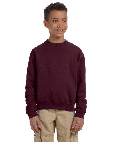 562b Jerzees Sweatshirt (Jerzees Youth 8 oz, 50/50 NuBlend Fleece Crew, Medium, Maroon)