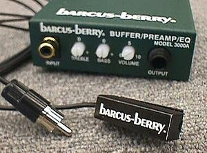 Barcus Berry 5600 Clarinet/Saxophone/Harmonica Microphone with Pre-Amplifier