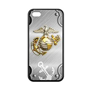USMC Marine Corps Metal Pattern & Anchor Iphone 5C Snap On Case Cover
