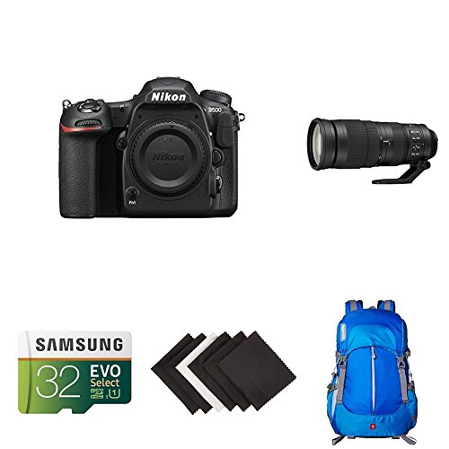 Nikon D500 DX-Format Digital SLR Sports and Wildlife Lens Kit w/ AmazonBasics Accessories by Nikon