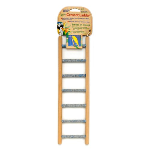 Penn Plax Small Step Wood and Cement Bird Ladder, 7-Inch