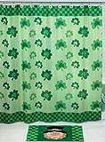 Shamrock SHOWER CURTAIN St. Patricks Day saint patrick's paddy paddy's Irish green bathroom bath room tub Home Decor