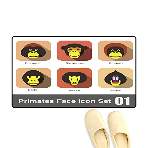 te Monkey face Flat icon Set ()