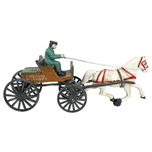 Design Toscano Style cast Iron Horse Vintage-StyleHorse Drawn Police Chief Patrol Wagon, Multi/Color by Design Toscano (Image #3)