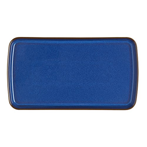Denby Imperial Blue Rectangular Plate, Royal Blue -