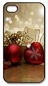 iPhone 4S Case and Cover -Christmas love PC case Cover for iPhone 4 and iPhone 4s ¡§CBlack