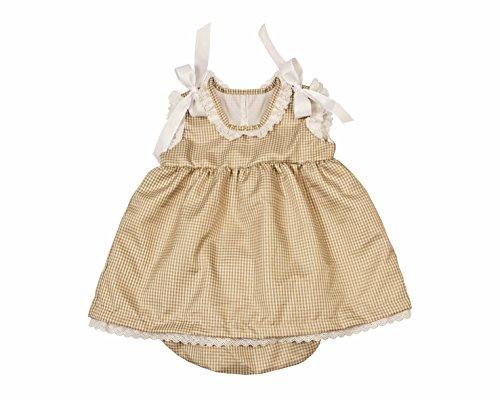 Bee nene Baby Girl Dress & Panty Diaper Cover (Gingham Beenene, ()