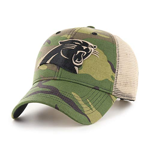 OTS NFL Carolina Pantshers Male Nameplate All-Star Adjustable Hat, Camo, One Size