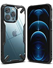 Ringke Fusion-X Compatible with iPhone 13 Pro Max Case, Clear Hard Back Heavy Duty Shockproof Advanced Protective TPU Bumper Phone Cover (Black)