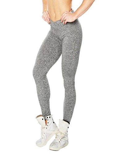 Women Yoga Pants, Neartime Women Hight Waist Solid Color Sports Pants Running Leggings Casual Stretch Activewear Trouser (S, Gray)