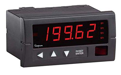 Simpson H335371022 Advanced Digital Panel Meter, 3.5,9-36VDC,4-20MADC,2R,24V (Meter Panel Simpson Digital)
