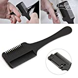 LuckyFine Double Sides Hair Razor Comb Cutter Cutting Thinning Shaper Haircut Grooming Men Women Hair Trimmer Hair Styling Tool