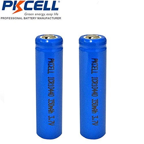 AAA 3.7V Rechargeable Battery 10440 Li ion 350mAh Button Top 2 - Lithium 18650 Battery Protected