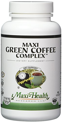 Maxi Robustness Kosher Green Coffee Bean Complex with Green Tea Extract Diet Support Capsules, 90 Count