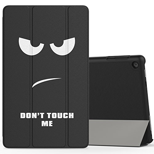 MoKo Case for All-New Amazon Fire HD 8 (2016 6th Generation) - Ultra Slim Lightweight Smart-shell Stand Cover with Auto Wake / Sleep for Fire HD 8 Tablet (6th Gen, 2016 release Only), Don't Touch Me (Kindle Keyboard Cover Light compare prices)
