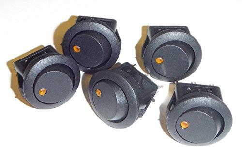 Dunarri Round Rocker Switch 12V with Yellow LED ()