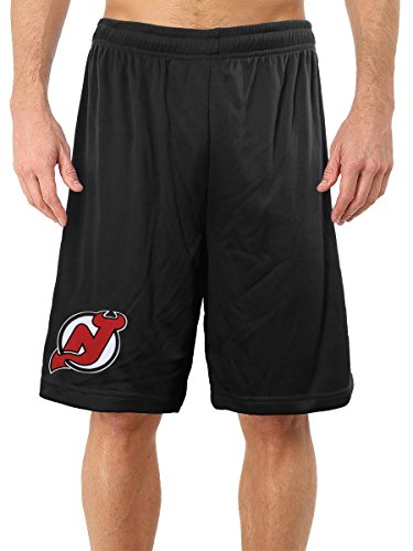 NHL Men's Official Team Mesh Shorts (New Jersey Devils, Large)