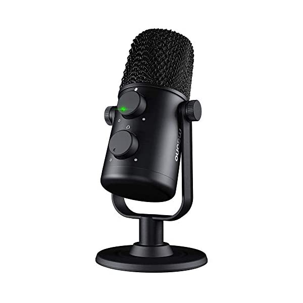 USB Microphone MAONO AU 902 Cardioid Condenser Podcast Mic with Dual Volume Control Mute Button Monitor headphone