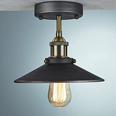 Truelite Industrial Vintage Style Mini Metal Ceiling Light with Interior Reflector
