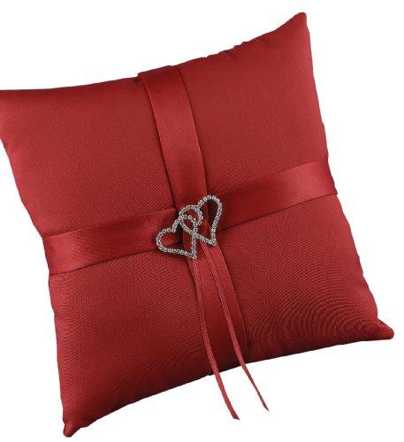 Hortense B. Hewitt Wedding Accessories With All My Heart Ring Bearer Pillow, Red Claret