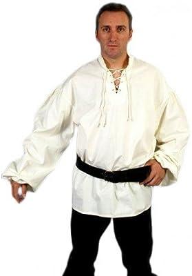 Camisa Medieval Hombre manga ancha: Amazon.es: Juguetes y juegos