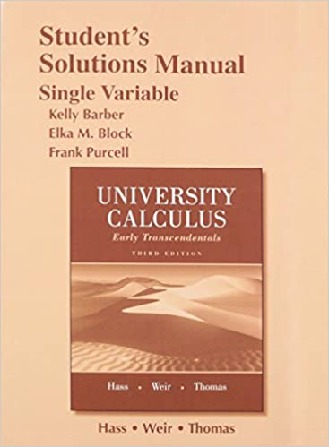 University Calculus 2ed Hass Solution Pdf