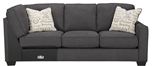 Signature Design by Ashley Alenya Right Arm Facing Sofa, Charcoal