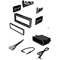 Car Stereo Dash Kit, Wire Harness, Antenna Adapter, Pocket for Installing a Single Din Radio for some 95-02 Chevrolet Astro Avalanche Express Silverado Suburban Tahoe GMC Safari Sierra Yukon