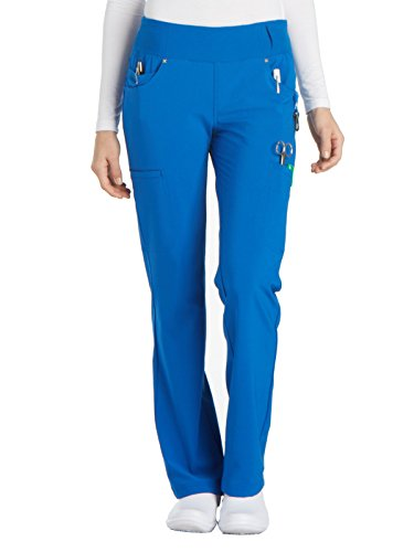 Cherokee iFlex CK002 Mid Rise Pull-On Pant Royal L Petite ()