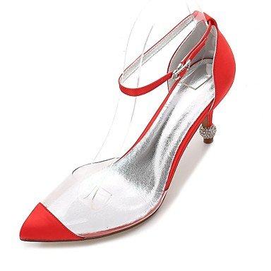 Wedding Satin Primavera US8 Shoes Rubí Verano Rhinestone Noche EU39 Vestido UK6 CN39 Champán Heelivory RTRY De Bowknot Azul Confort Boda Plana Mujeres's amp;Amp; HAF5nIwIq