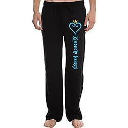 XINGJX Men's Kingdom Hearts Game logo Running Workout Sweatpants Pants L Black